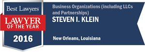 Steven I. Klein has earned a Lawyer of the Year award for 2016!