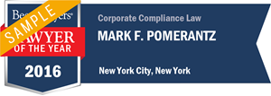 Mark F. Pomerantz has earned a Lawyer of the Year award for 2016!