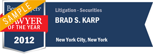 Brad S. Karp has earned a Lawyer of the Year award for 2012!