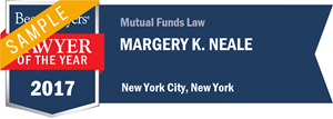 Margery K. Neale has earned a Lawyer of the Year award for 2017!
