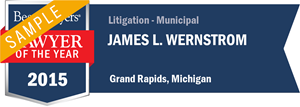 James L. Wernstrom has earned a Lawyer of the Year award for 2015!