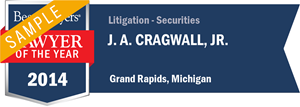 J. A. Cragwall, Jr. has earned a Lawyer of the Year award for 2014!