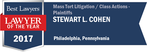 Stewart L. Cohen has earned a Lawyer of the Year award for 2017!