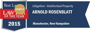 Arnold Rosenblatt has earned a Lawyer of the Year award for 2015!