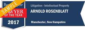 Arnold Rosenblatt has earned a Lawyer of the Year award for 2017!