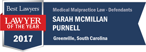 Sarah McMillan Purnell has earned a Lawyer of the Year award for 2017!