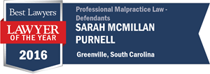 Sarah McMillan Purnell has earned a Lawyer of the Year award for 2016!