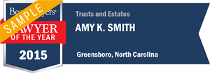 Amy K. Smith has earned a Lawyer of the Year award for 2015!