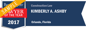 Kimberly A. Ashby has earned a Lawyer of the Year award for 2017!