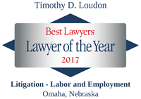 Best Lawyers - Lawyer of the Year 2017 - Timothy D. Loudon