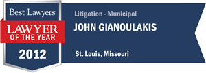 John Gianoulakis has earned a Lawyer of the Year award for 2012!