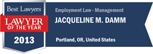 Jacqueline M. Damm has earned a Lawyer of the Year award for 2013!