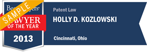 Holly D. Kozlowski has earned a Lawyer of the Year award for 2013!