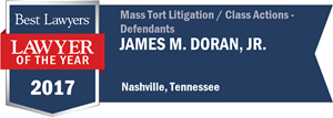 James M. Doran, Jr. has earned a Lawyer of the Year award for 2017!