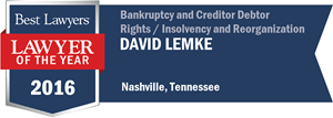 David E. Lemke has earned a Lawyer of the Year award for 2016!