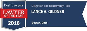 Lance A. Gildner has earned a Lawyer of the Year award for 2016!