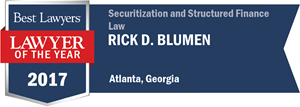 Rick D. Blumen has earned a Lawyer of the Year award for 2017!