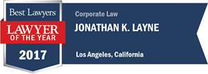 Jonathan K. Layne has earned a Lawyer of the Year award for 2017!