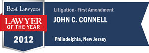 John C. Connell has earned a Lawyer of the Year award for 2012!
