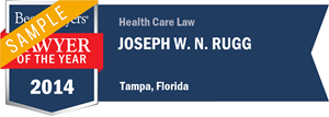 Joseph W. N. Rugg has earned a Lawyer of the Year award for 2014!
