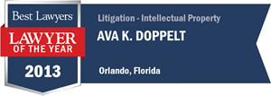 Ava K. Doppelt has earned a Lawyer of the Year award for 2013!