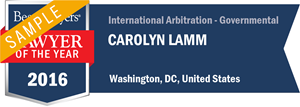 Carolyn B. Lamm has earned a Lawyer of the Year award for 2016!