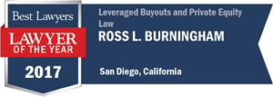 Ross L. Burningham has earned a Lawyer of the Year award for 2017!