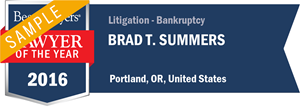 Brad T. Summers has earned a Lawyer of the Year award for 2016!