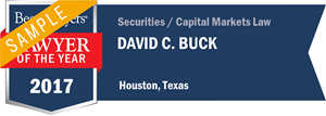 David C. Buck has earned a Lawyer of the Year award for 2017!