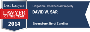 David W. Sar has earned a Lawyer of the Year award for 2014!