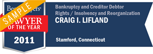 Craig I. Lifland has earned a Lawyer of the Year award for 2011!