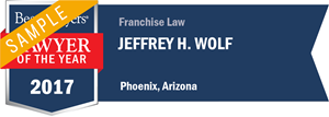 Jeffrey H. Wolf has earned a Lawyer of the Year award for 2017!