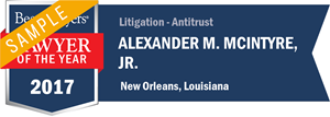 Alexander M. McIntyre, Jr. has earned a Lawyer of the Year award for 2017!