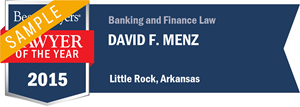 David F. Menz has earned a Lawyer of the Year award for 2015!