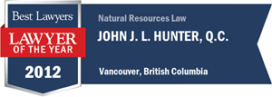John J. L. Hunter , Q.C. has earned a Lawyer of the Year award for 2012!