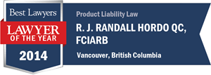 R. J. Randall Hordo QC, FCIArb has earned a Lawyer of the Year award for 2014!