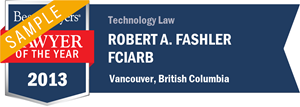Robert A. Fashler has earned a Lawyer of the Year award for 2013!