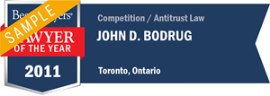 John D. Bodrug has earned a Lawyer of the Year award for 2011!