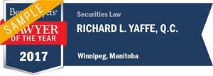Richard L. Yaffe has earned a Lawyer of the Year award for 2017!