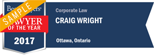 Craig Wright has earned a Lawyer of the Year award for 2017!