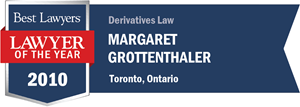 Margaret Grottenthaler has earned a Lawyer of the Year award for 2010!