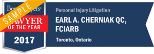 Earl A. Cherniak QC, FCIArb has earned a Lawyer of the Year award for 2017!