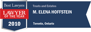M. Elena Hoffstein has earned a Lawyer of the Year award for 2010!