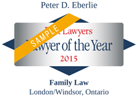 Peter D. Eberlie | Best Lawyers Lawyer of the Year 2015 | Family Law - London/Windsor