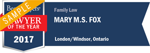 Mary M. S. Fox has earned a Lawyer of the Year award for 2017!
