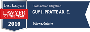 Guy J. Pratte has earned a Lawyer of the Year award for 2016!