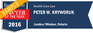 Peter W. Kryworuk has earned a Lawyer of the Year award for 2016!