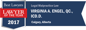 Virginia A. Engel , QC., ICD.D. has earned a Lawyer of the Year award for 2017!