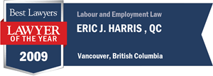 Eric J. Harris , Q.C. has earned a Lawyer of the Year award for 2009!