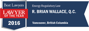 R. Brian Wallace , Q.C. has earned a Lawyer of the Year award for 2016!